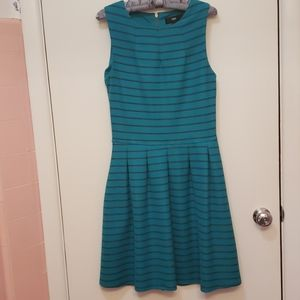 Massimo Striped Dress - Teal